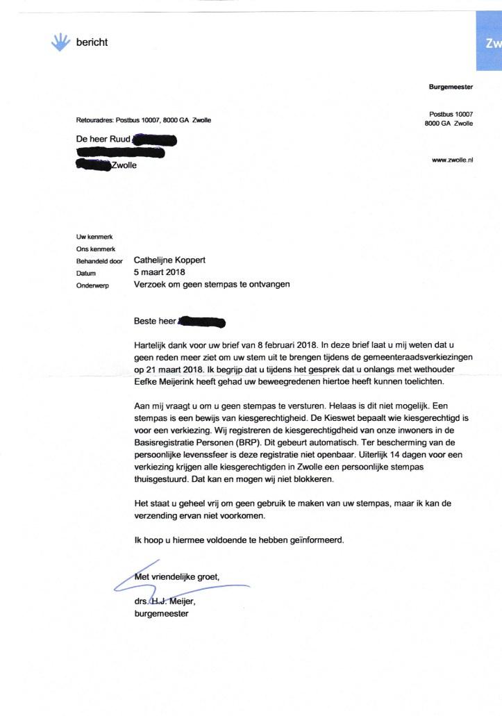 burg. Meijer antw. 5 maart 2018